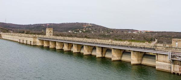 Dam Across Table Rock Lake near Branson, MO