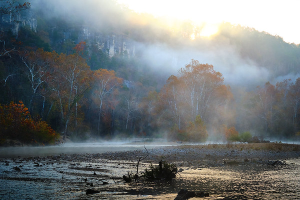 Misty Morning Sunrise on the Jacks Fork