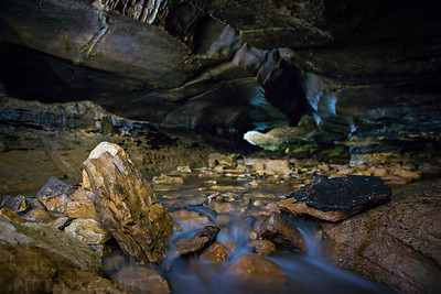 The Devil's Icebox at Rock Bridge State Park in Columbia, Mo. Devil's Icebox Cave has a total mapped passage distance of more than seven miles.  Photo by Kyle Spradley  
