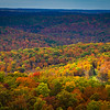 Fall colors viewed from Skyline Drive in southern Missouri. The 4-mile loop along a ridgetop off Highway 103 south of Van Buren offers scenic vistas of the surrounding hills and valleys.  Photo by Kyle Spradley | www.kspradleyphoto.com