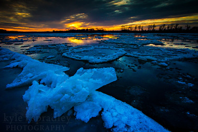 Sunset along the Missouri River, south of Columbia, near the village of Easley.   Photo by Kyle Spradley | www.kspradleyphoto.com