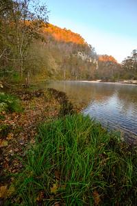 Sunrise on the Jacks Fork