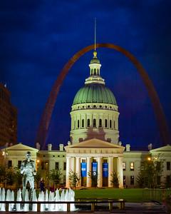 Old Capitol in the Dark