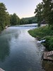 View upstream from bridge <br /> Bennett Springs State Park