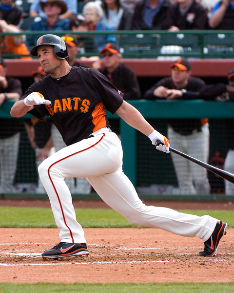 Pat Burrell makes his 2011 Cactus Spring Training debut for the San Francisco Giants.