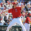 #36 Jered Weaver of the Los Angeles Angels