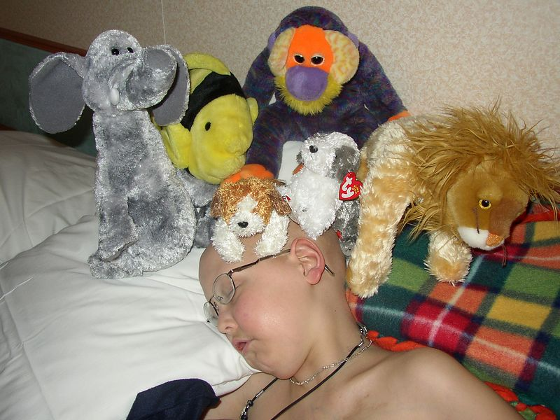 Mitch with his cozy friends from home finally made it to the ship!  They all slept & slept & slept......