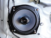 """Aftermarket speaker and speaker adapter ring  from <a href=""""http://www.car-speaker-adapters.com/items.php?id=SAK058""""> Car-Speaker-Adapters.com</a>  installed"""