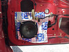 "Aftermarket speaker, speaker adapter ring     <a href=""http://www.car-speaker-adapters.com/items.php?id=SAK058""> Car-Speaker-Adapters.com</a>   , and Fatmat Sound Deadener installed on door."