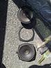 """Top: Aftermarket speaker <br> Middle: Speaker adapter ring from <a href=""""http://www.car-speaker-adapters.com/items.php?id=SAK058""""> Car-Speaker-Adapters.com</a> <br> Bottom: Aftermarket speaker"""