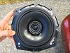 "Aftermarket speaker mounted to speaker adapter    from <a href=""http://car-speaker-adapters.com/items.php?id=SAK058""> Car-Speaker-Adapters.com</a>"
