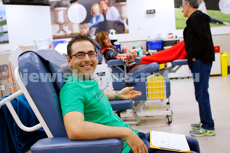 18-11-18. Mitzvah Day 2018. Magen David Adom. Blood drive at the Caulfield Blood Bank. Photo: Peter Haskin