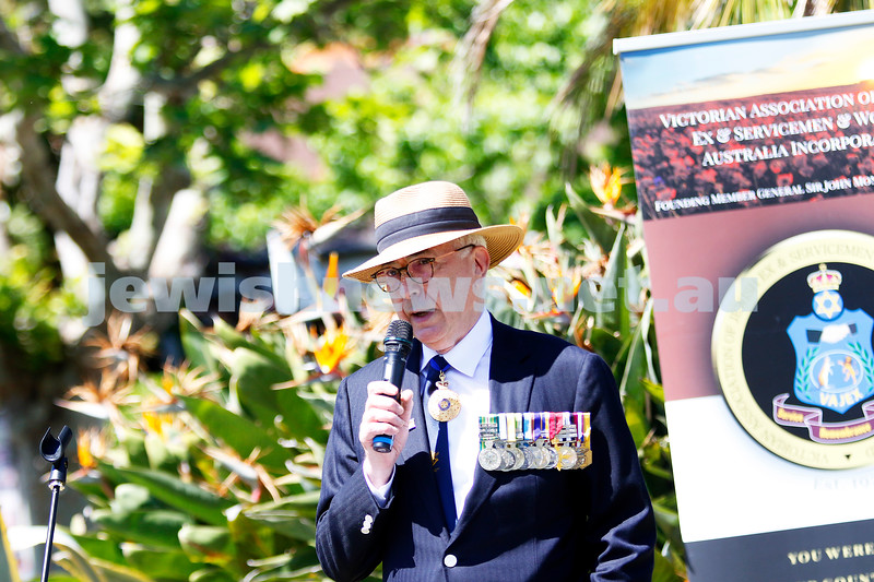 18-11-18. Mitzvah Day 2018. VAJEX Australia. Rememberence Day service. Photo: Peter Haskin