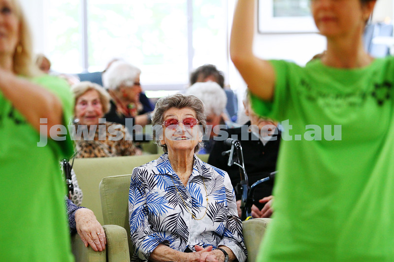 16-11-14. Mitzvah Day, Melbourne 2014. Zooz Israeli dancing at Gary Smorgon House.  Photo: Peter Haskin
