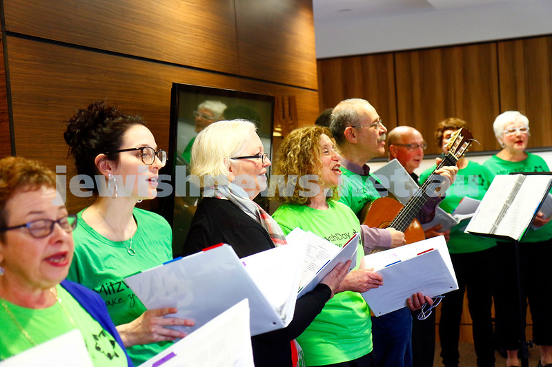 27-11-16. Mitzvah Day.  Nitzanim Singers performing at Regis Mckinley House. Photo: Peter Haskin