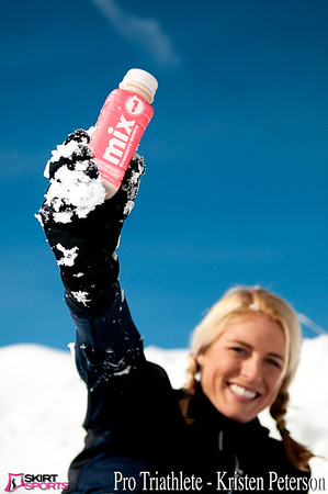 Kristen Peterson with Mix1 in the Snow