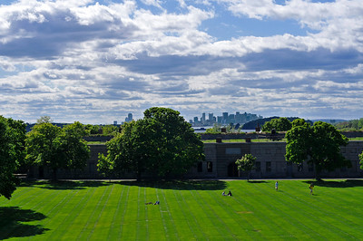 Fort Warren & Boston Skyline (a.k.a God's greatest lawn job.)