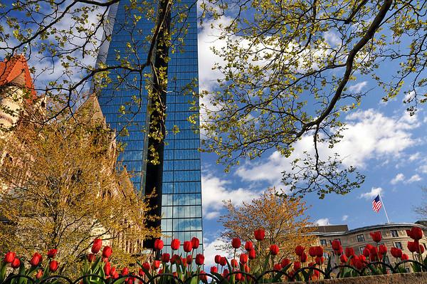 Spring in Copley Square.
