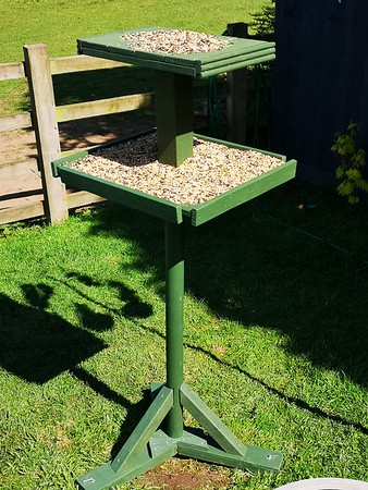 The new hand built bird table