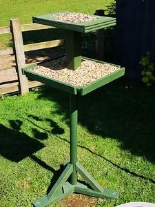 The new hand built bird table