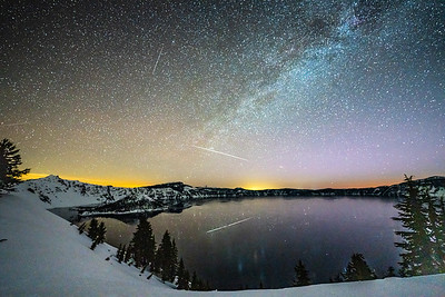 Starry night at Crater Lake