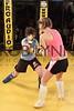 Grace Nowak (Blue Shirt) fights Randi Corter (Pink Shirt) in a female MMA bout