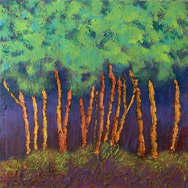 'Trees #3' 12 x 12 Mixed