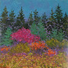Red Bush #2 12 x 12 Mixed
