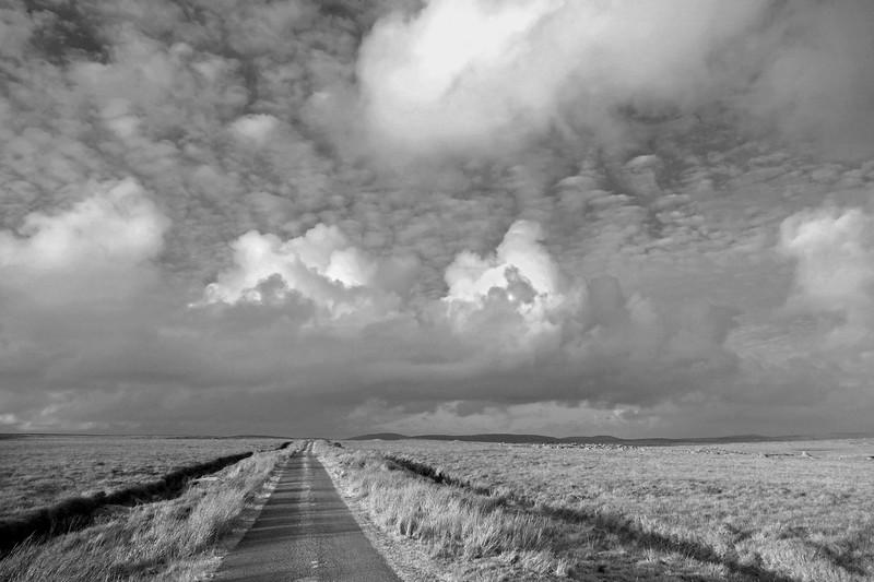 Open landscape of the east end of Connemara, Ireland.