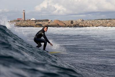 Per surfing close to Lista