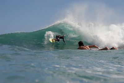 Surfer at Diamond Head
