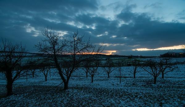Finther Felder  und Sonnenuntergang