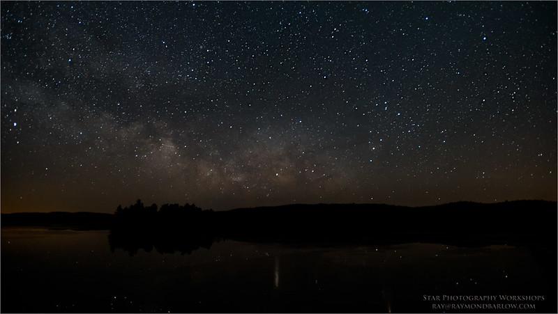 Milky Way Reflection<br /> Raymond's Ontario Nature Photography Tours<br /> <br /> ray@raymondbarlow.com<br /> Nikon D810 ,Nikkor 17-35mm f/2.8D ED-IF AF-S<br /> 30s f/2.8 at 17.0mm iso1600