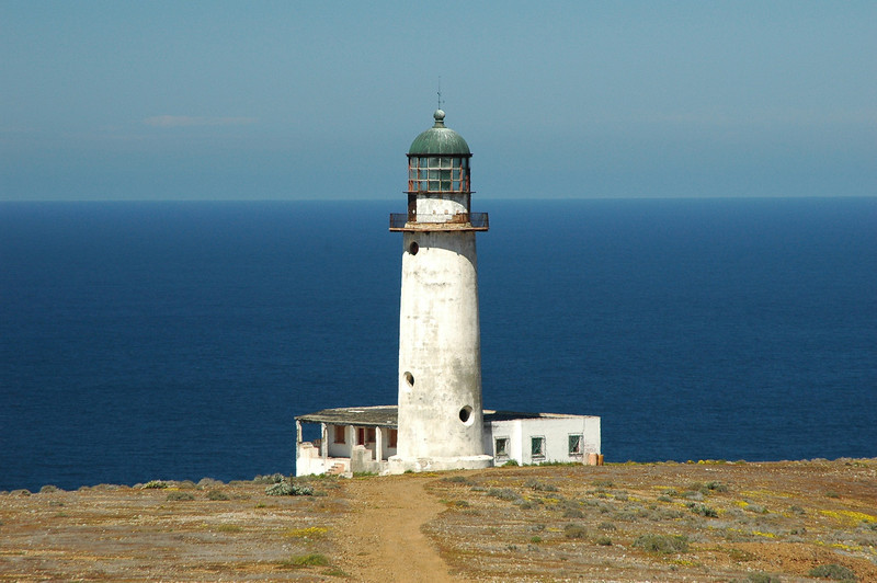 San Benito Lighthouse...where you can see the curve of the earth on the ocean.