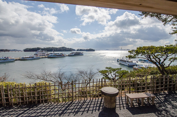 View from Kanrantai toward the Matsushima pier
