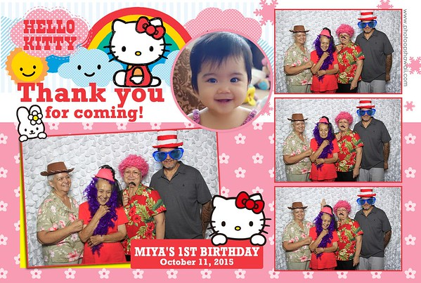 Miya's 1st Birthday (Fusion Photo Booth)