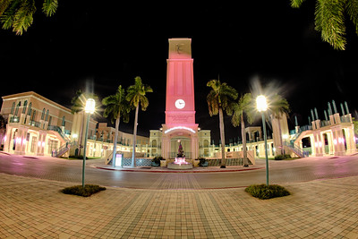 The Count de Hoernle Amphitheater Tower and Fountain at Mizner Park