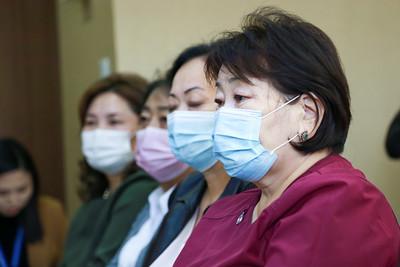 """2020 оны есдүгээр сарын 17. Сүхбаатар Эрүүл мэндийн төвд """"Цахим эрүүл мэнд хөтөлбөр""""-ийн хүрээнд эрүүл мэндийн байгууллагад нэн шаардлагатай байгаа тоног төхөөрөмжийг гардууллаа.   ГЭРЭЛ ЗУРГИЙГ Д.ЗАНДАНБАТ/MPA"""