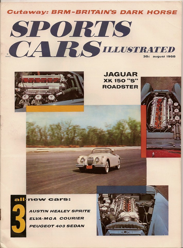Sports Cars Illustrated USA 1958 August 1
