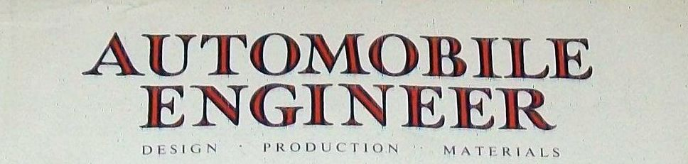 Automobile Engineer 1960 July cover