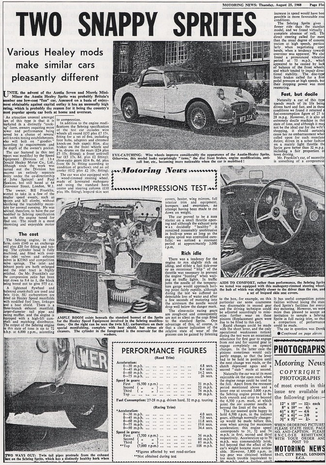 Motoring news 1960 August 25th 2