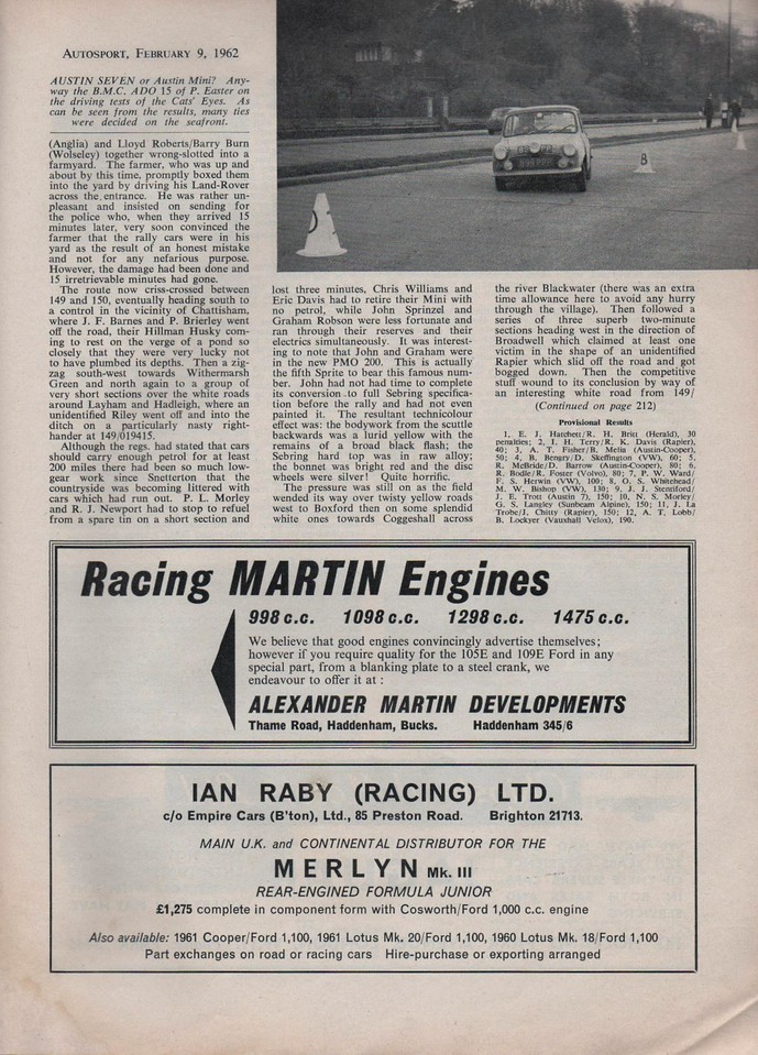 Autosport 1962 February 9 3