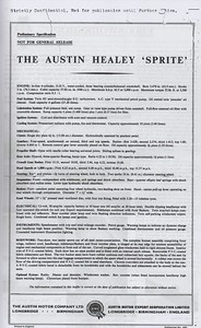 Austin Motor Company Sprite pre launch (4)