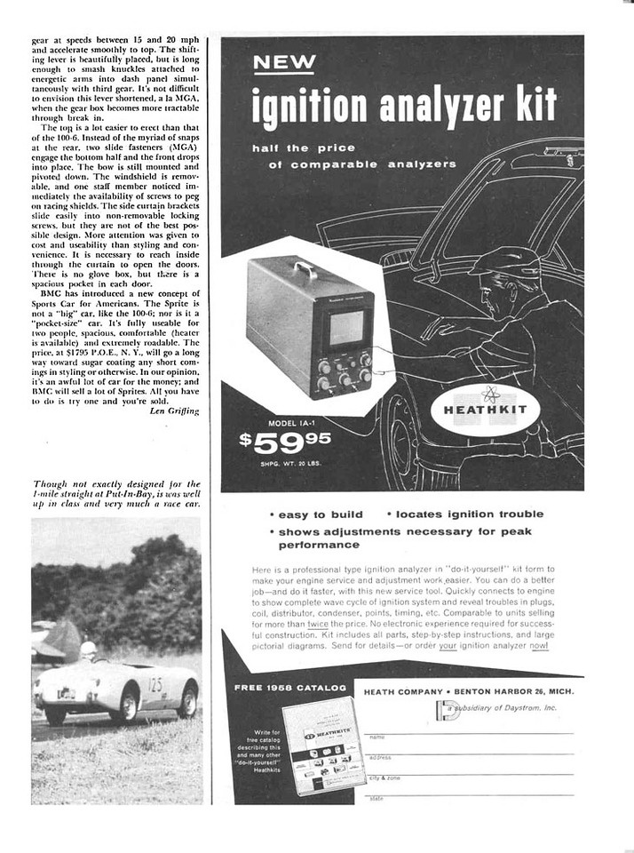 Sports cars Illustrated USA 1958 August 4