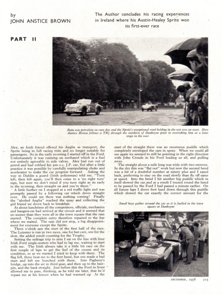 Sports Cars Illustrated UK 1958 December 3