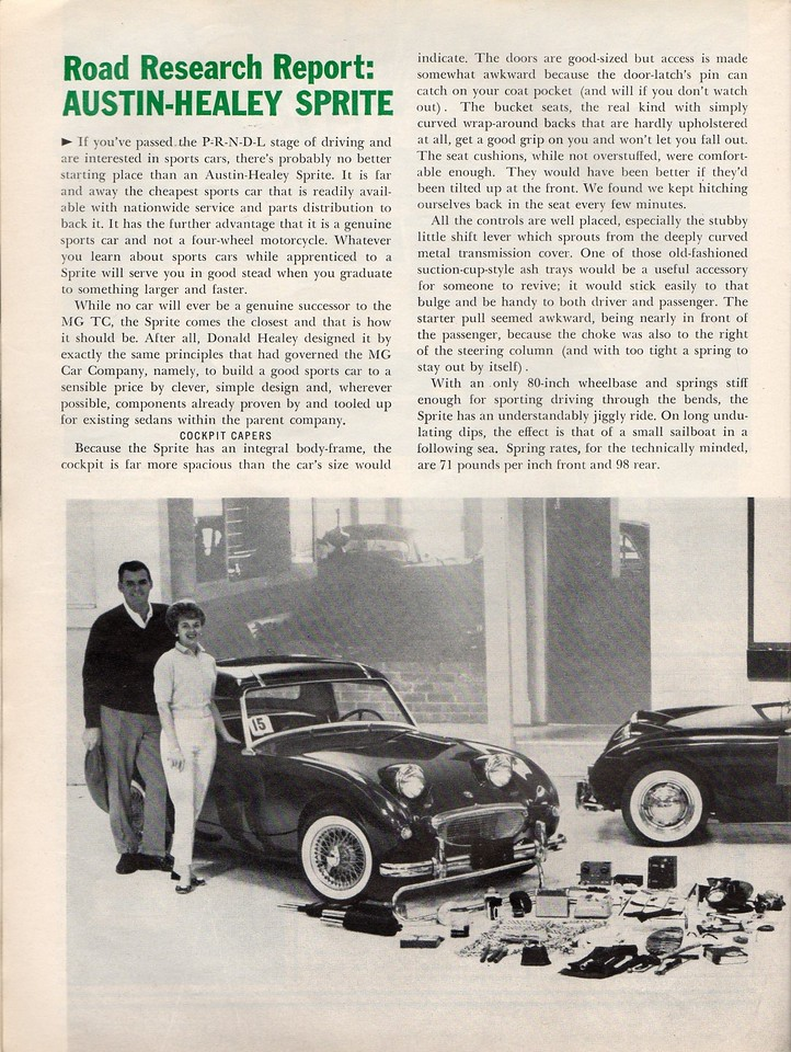 Sports Cars Illustarted's Car and Driver USA 1961 April 4