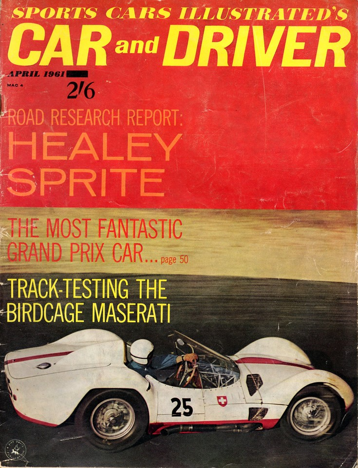 Sports Cars Illustarted's Car and Driver USA 1961 April 1