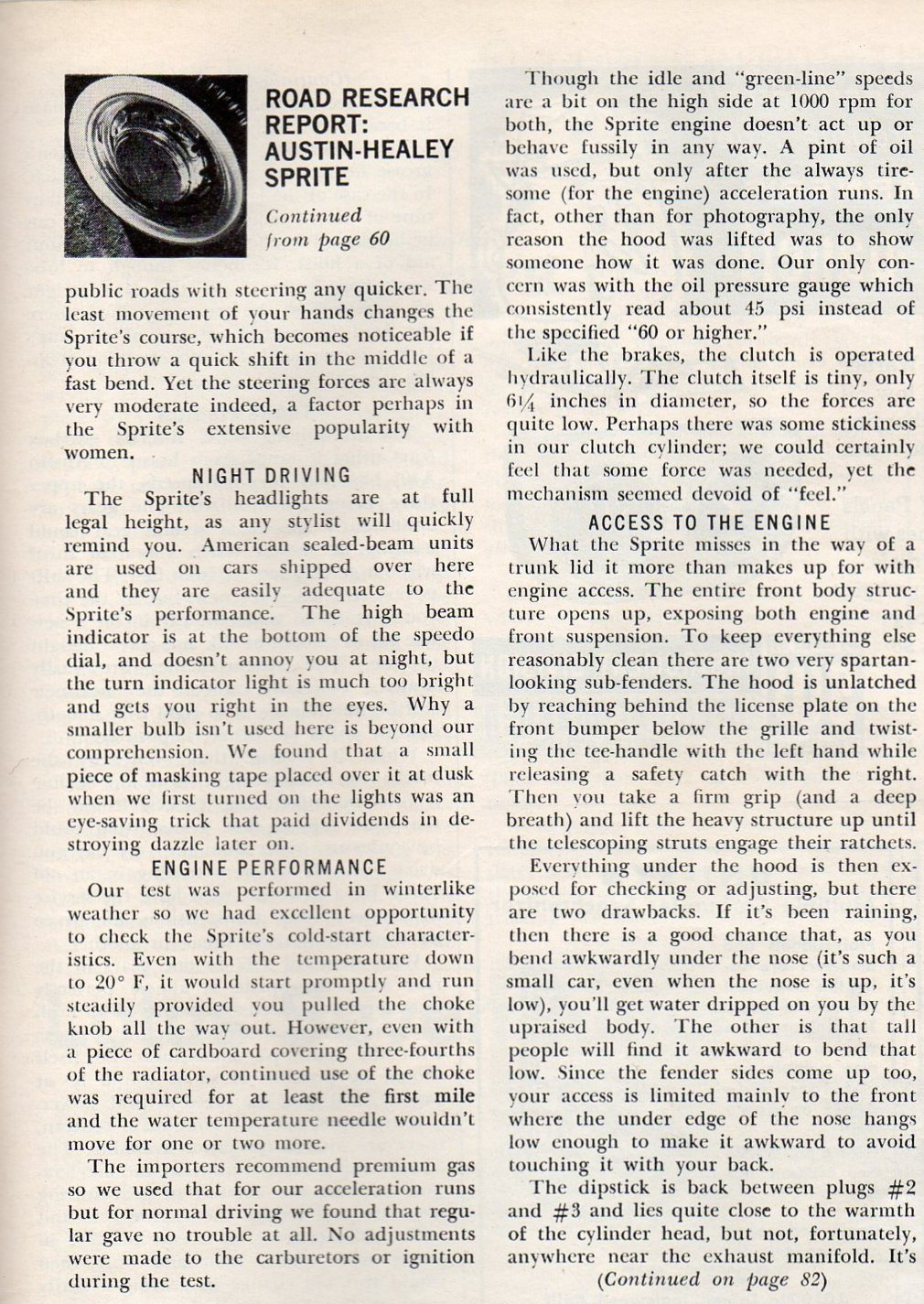 Sports Cars Illustarted's Car and Driver USA 1961 April 10