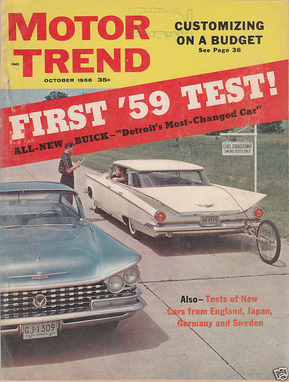 Motor Trend 1958 October
