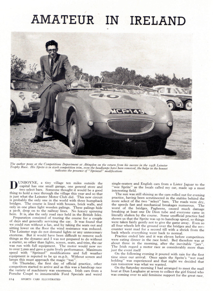 Sports Cars Illustrated UK 1958 December 2